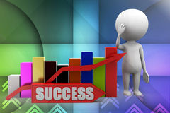 3d Sucess illustration Royalty Free Stock Image