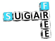 3D Sugar Free Crossword Stock Foto's