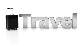3d suitcase and travel Royalty Free Stock Photography