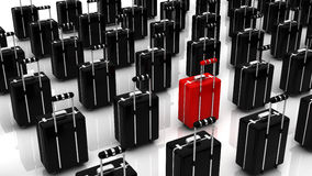 3d suitcases Royalty Free Stock Photo