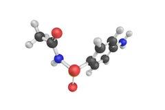 3d Sulfacetamide, 10%典型化妆水结构,批准为 图库摄影