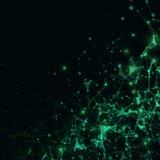 3D sumário Mesh Background com círculos, linhas e formas Fotos de Stock
