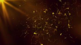 3D sumário Mesh Background com círculos, linhas e formas Foto de Stock