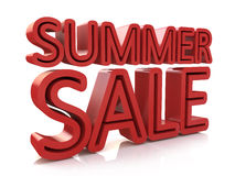 3D Summer Sale Word Stock Photo