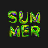 3d summer text .Vector.Eps 10. 3d summer text .Vector.Eps 10 Royalty Free Stock Photo