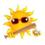 3d Sun baseball Stock Images