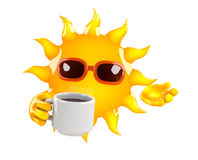 3d Sun break Royalty Free Stock Photography
