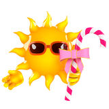 3d Sun candy Stock Images
