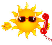 3d Sun chat Royalty Free Stock Photo
