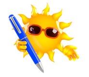 3d Sun escribe Foto de archivo libre de regalías