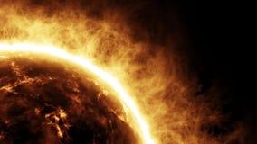 3D Sun/explodierende Feuerkugel-Animation mit Audio - verlangsamen Sie Zoom vektor abbildung