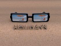 3D Sun Glasses Stock Images