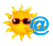 3d Sun has an email address Stock Photo