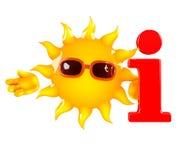 3d Sun info Stock Photo
