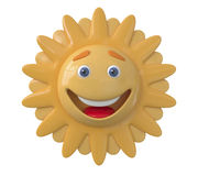 The 3D Sun laughs Stock Image