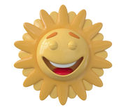 The 3D Sun laughs Royalty Free Stock Photos