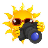 3d Sun photographer Royalty Free Stock Image