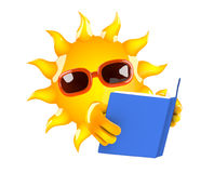 3d Sun reader Stock Image