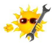 3d Sun repair Royalty Free Stock Photos