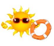3d Sun rescue Stock Photos