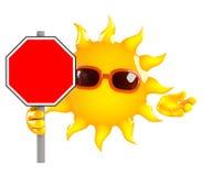 3d Sun sign Royalty Free Stock Image