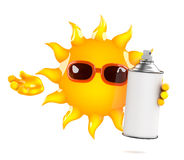 3d Sun spray Royalty Free Stock Images