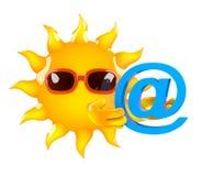 3d Sun a un adresse e-mail illustration de vecteur