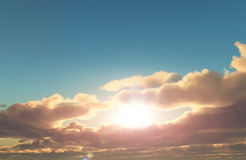 3D sunset sky Royalty Free Stock Photography