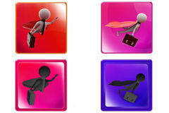 3d super business Man concept icon Royalty Free Stock Photos