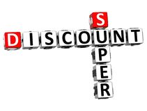 3D Super Discount Crossword. On white background Stock Photos