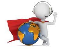 3d superhero global manager Stock Photos