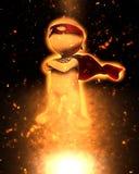 3D superhero image Stock Photography