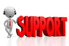 3D support concept Royalty Free Stock Image