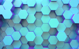 3d surface. Background from hexagons Stock Photography