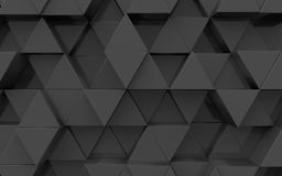 3d surface from extruded triangles Stock Photography
