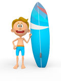 3D surfer Stock Images