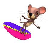 3d Surfing mouse Royalty Free Stock Images