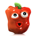 3d Surprised red pepper Royalty Free Stock Photo