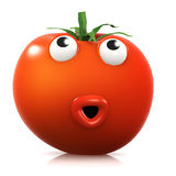 3d Surprised tomato Royalty Free Stock Photography