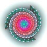 3D surreal spiral snake. Stock Photo