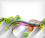 3d swirls / wave lines with shadow. For abstract background or banners Stock Photo