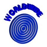3D symbol błękitny świat na białym tle ilustracji