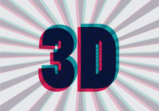 3D symbol with chromatic aberration,  Stock Photos