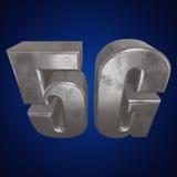 3D symbol för metall 5G på blått Arkivfoton