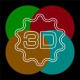 3d symbol - illustration f?r vektorfilmbio stock illustrationer