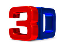 3D symbol on white background Royalty Free Stock Photography