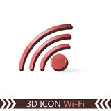 3D symbol Wi-Fi Royaltyfri Bild