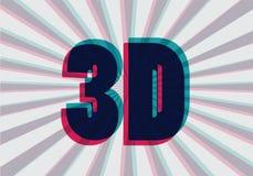 3D symbol z chromatyczną aberracją,  ilustracji