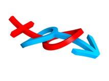 3d symbolen van het huwelijksgeslacht stock illustratie