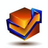 3d symbool creatief ontwerp Royalty-vrije Stock Afbeelding